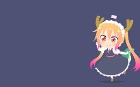 Picture background, girl, baby, Kobayashi-San Chi no Maid Dragon, The Dragon-Maid Kobayashi