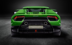 Picture Lamborghini, supercar, rear view, Performante, Huracan