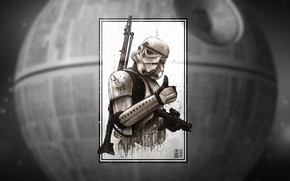 Picture Figure, Empire, Art, Stormtrooper, StarWars, The death star, Star Wars, by Shane Molina, Shane Molina, …