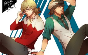 Picture art, guys, two, partners, Kotetsu, Tiger and Bunny, Barnaby, Tiger and Bunny