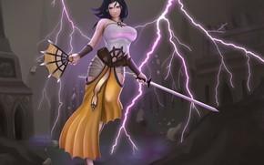 Picture Girl, Lightning, Sword