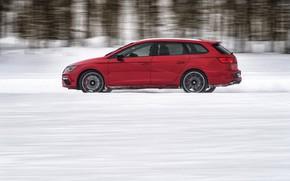 Picture snow, red, profile, universal, Seat, 2017, Leon Cupra ST