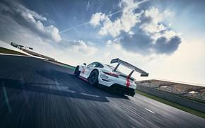 Picture Porsche, Speed, Track, Porsche 911, Wing, 2020, Porsche 911 RSR