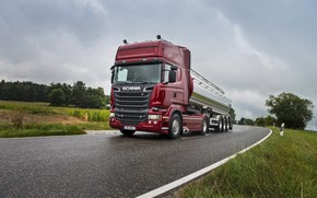 Picture road, Scania, R730, tanker