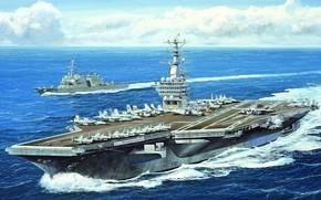 Picture US NAVY, us aircraft carrier, USS Nimitz, US NAVY, CVN-68