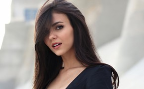 Picture girl, long hair, brown eyes, photo, model, lips, face, singer, brunette, Victoria Justice, portrait, mouth, …