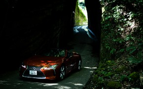 Picture Lexus, the tunnel, convertible, 2021, LC 500 Convertible