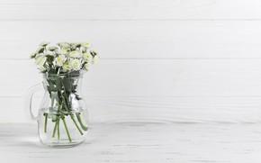 Picture bouquet, vase, chrysanthemum