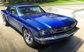 Picture Mustang, Ford, Auto, Figure, Blue, Machine, Ford, Ford Mustang, Art, Illustration, Ford Mustang, Alexander Sidelnikov, …