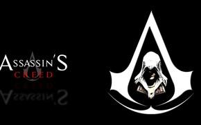 Picture emblem, black background, Assassin's Creed