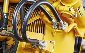 Picture yellow, machinery, hydraulic
