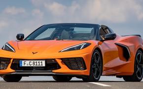 Picture Corvette, Chevrolet, sports car, convertible, exterior, Stingray, 2021, Chevrolet Corvette Stingray Convertible