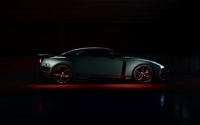 Picture background, Nissan, GT-R, dark, R35, in profile, Nismo, ItalDesign, 2020, V6, GT-R50, 720 HP