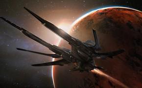 Picture Stars, Planet, Space, The ship, Fiction, Concept Art, Science Fiction, Transport & Vehicles, Eddie Del …