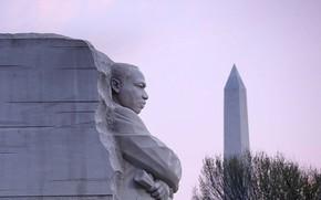 Picture Washington, USA, sculpture, obelisk, Memorial Martin Luther King