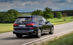 Picture BMW, crossover, SUV, on the road, 2020, BMW X7, M50i, X7, G07