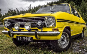 Picture car, Yellow, classic, Opel Kadett