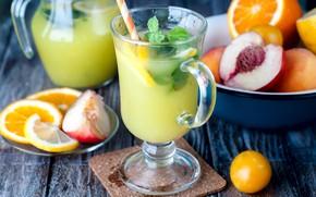 Picture orange, mint, peach, lemonade