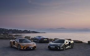 Picture sunset, coast, McLaren, the evening, supercars, 2019, McLaren GT