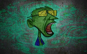 Picture face, wall, graffiti, graphics, drawing