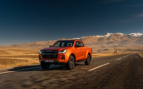 Picture road, mountain, Isızu D-Max