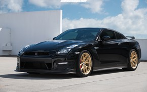 Picture Japan, Nissan, GT-R, Sky, Black, R35