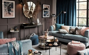 Picture design, style, interior, living room, от архитектора Джона Льюиса, room for entertaining, by John Lewis …