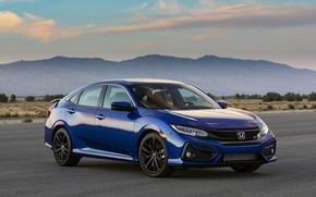 Picture mountains, blue, Honda, sedan, Civic, 2020, 2019, You Sedan