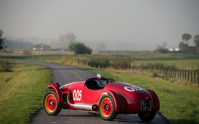 Picture Road, Wheel, Morning, Classic, 1950, Classic car, Tires, Sports car, Giannini 750 Sport