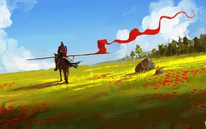 Picture Figure, Warrior, Art, Art, Knight, Dominik Mayer, Lazy Afternoon, Banner, by Dominik Mayer