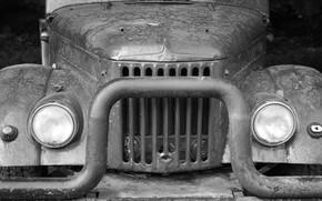 Picture machine, old car, UAZ