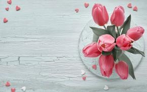 Picture bouquet, tulips, pink, Anya Ivanova