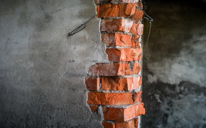 Picture background, wall, brick, naturalism