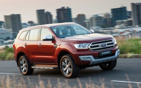 Picture road, the city, Ford, Everest, Limited, 4WD, 2015