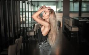 Picture girl, pose, model, hair, figure, blonde, beauty, Jiri Tulach