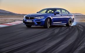 Picture traces, smoke, track, BMW, sedan, BMW M5, 2017, M5, F90
