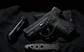 Picture Dark, Military, Weapon, Pistol, Lantern