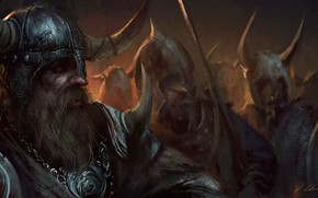 Picture Figure, Warrior, Art, Viking, Viking, Darek Zabrocki, by Darek Zabrocki, Viking March