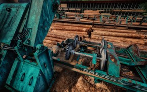 Picture background, logs, sawmill