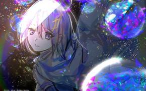 Picture girl, bubbles, Mahou Shoujo Madoka Magica, Sayaka Miki, by Noki