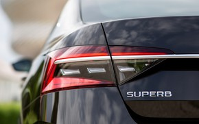 Picture sedan, the rear part, Skoda, Skoda, four-door, Superb, 2020, the color is a dark unfiltered …