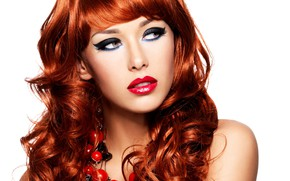 Picture girl, hair, makeup, red, Valua Vitaly
