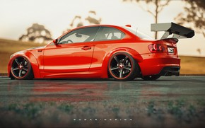 Picture Red, Auto, BMW, Machine, Car, Render, 135i, Rendering, Red, BMW M135i, Transport & Vehicles, by …