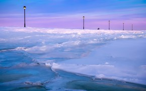 Picture winter, nature, Empty seat, Banc vide