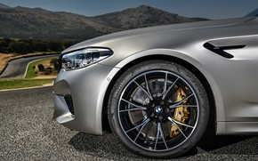 Picture grey, wheel, BMW, sedan, 4x4, 2018, the front part, four-door, M5, V8, F90, M5 Competition