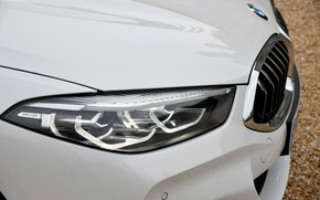 Picture white, coupe, headlight, the hood, BMW, grille, 2018, 8-Series, Eight, G15, 840d xDrive M Sport