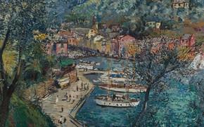 Picture picture, the urban landscape, Portofino, Michele Casella, Michele Cascella