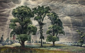 Picture Charles Ephraim Burchfield, 1931-46, The Three Trees