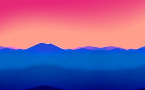 Picture the sky, sunset, mountains