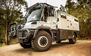 Picture Mercedes-Benz, truck, 2018, the hinged equipment, Unimog, U430, Earthcruiser, Explorer XPR 440